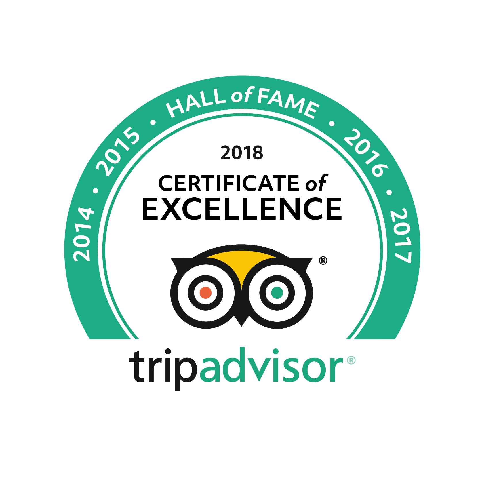 Certificate of Excellence Hall of Fame TripAdvisor O' fragón
